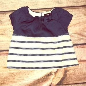 Baby gap navy bow dress top 3-6 Months
